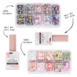 Butterfly Feast Nail Art Foil Glue Gel and Flower Butterfly Nail Foil Stickers