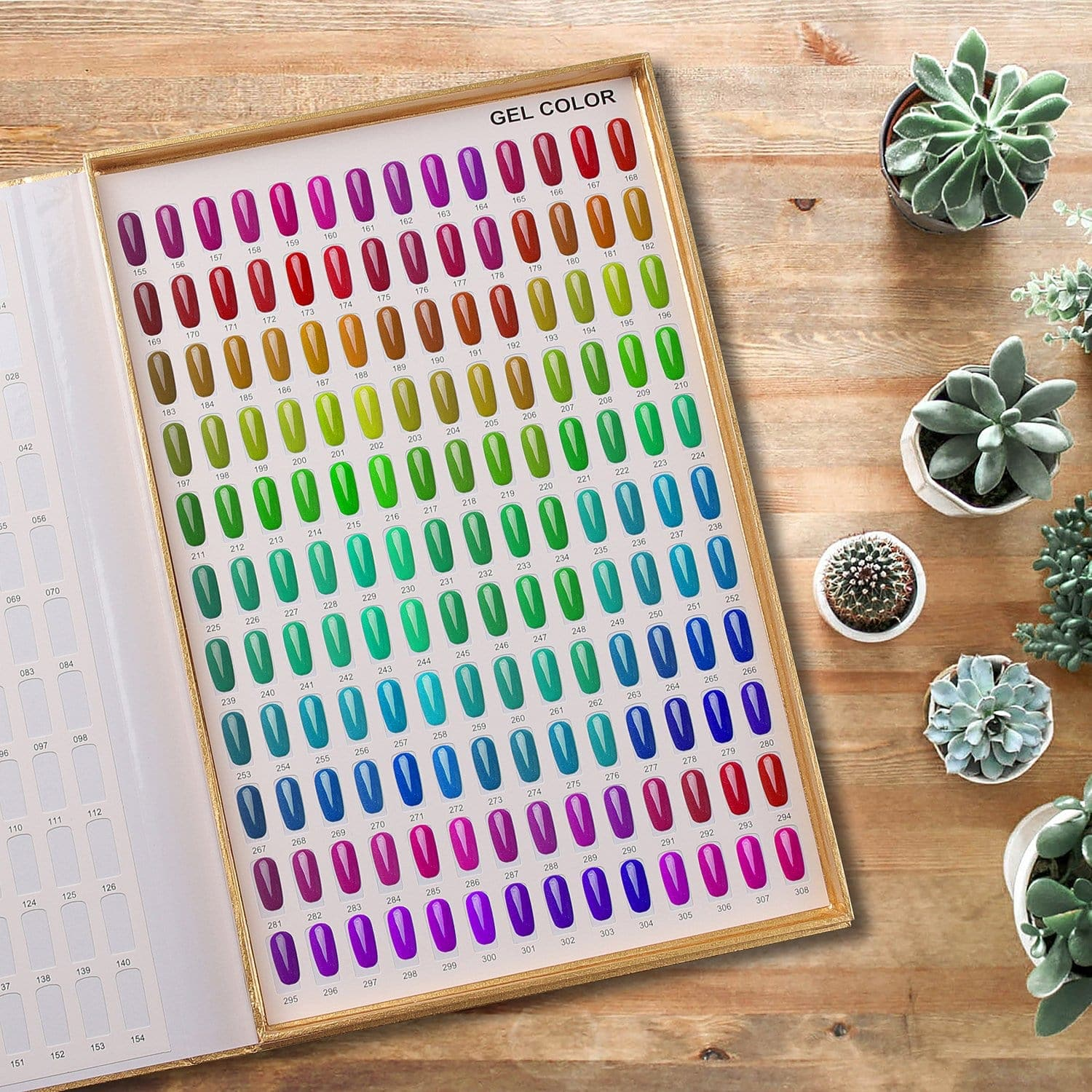 308 Poly Nail Gel Color Chart Display Book - Makartt