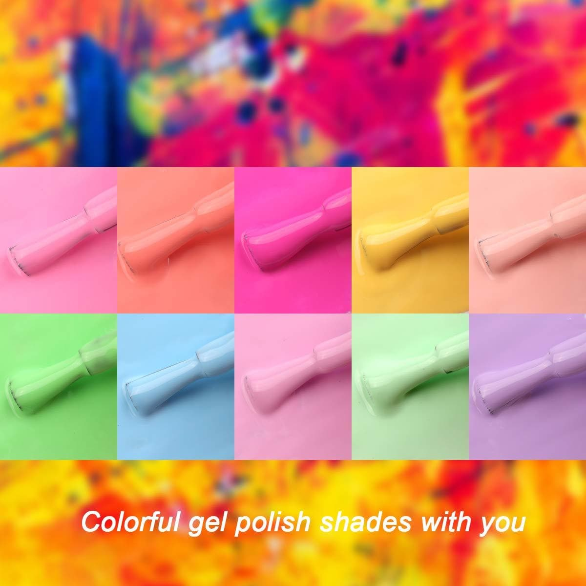 Makartt Gel Nail Polish Kit Pastel Gel Polish 8ML P-105 - Makartt