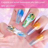 6 Color Crystal Jelly Gel Polish Set in Rainbow 10ML P-08 - Makartt