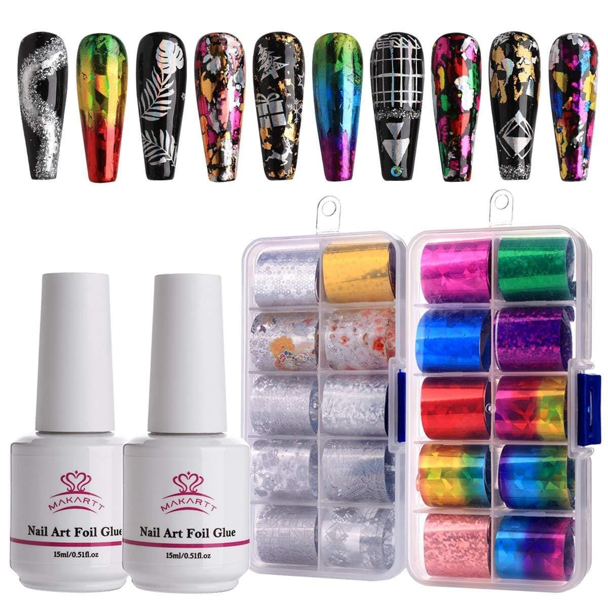 Nail Art Foil Decoration Set in Starry Sky - Makartt