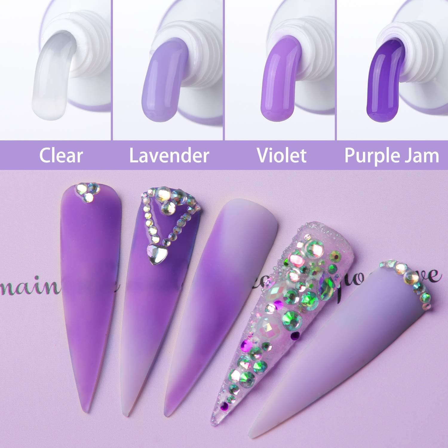 Purple Collection Poly Nail Gel Extension Kit - Makartt