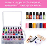 Clear Universal Carrying Case with 48 Slots (Nail Polish Not Included) - Makartt