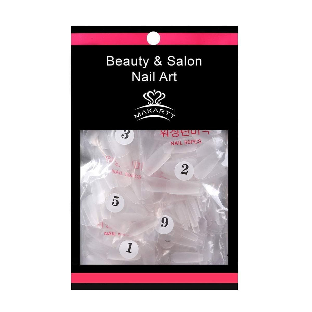 Pack of 500 Pieces Ballerina Matte Nail Tips