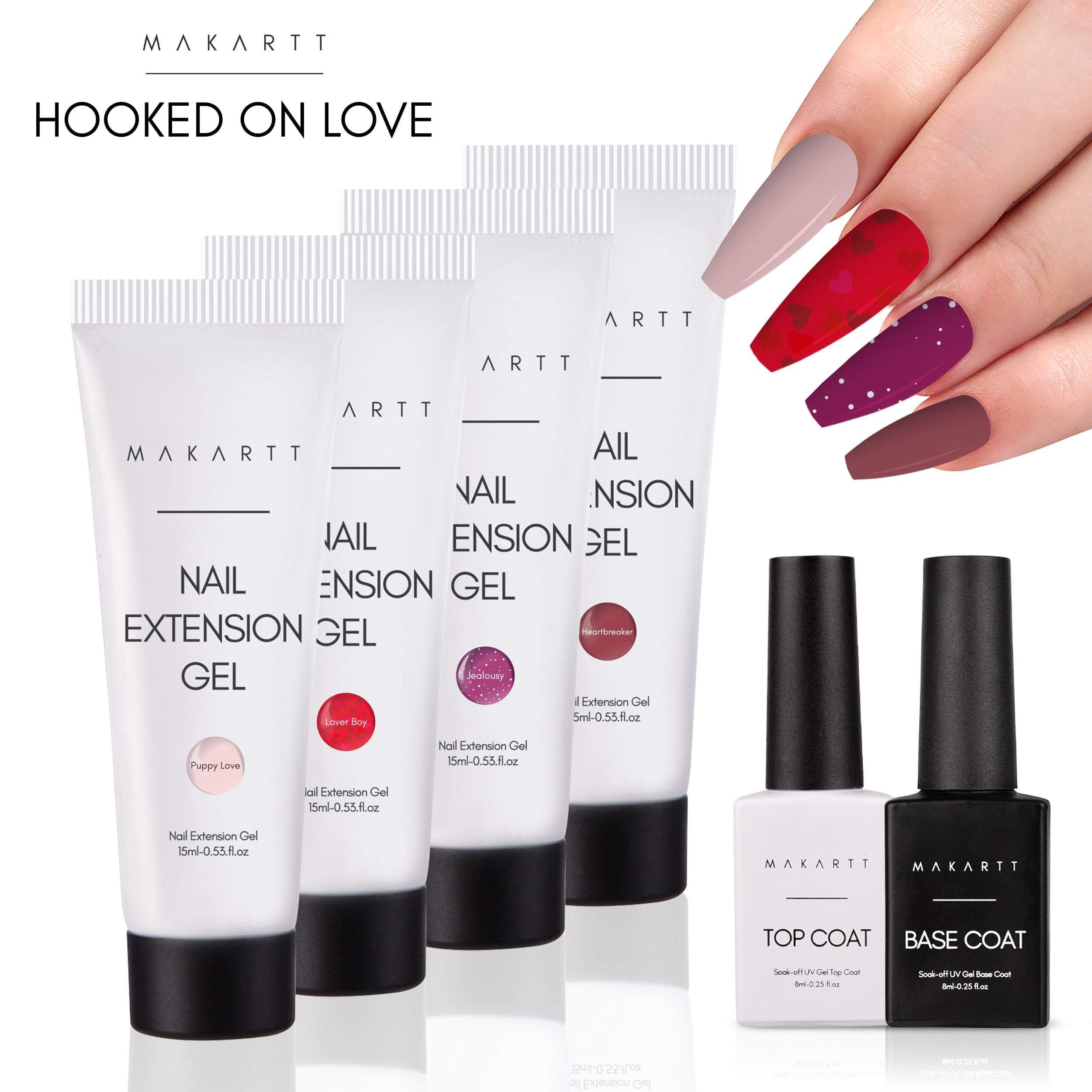 Hooked On Love 4 Color Poly Gel Kit (Limited Edition)