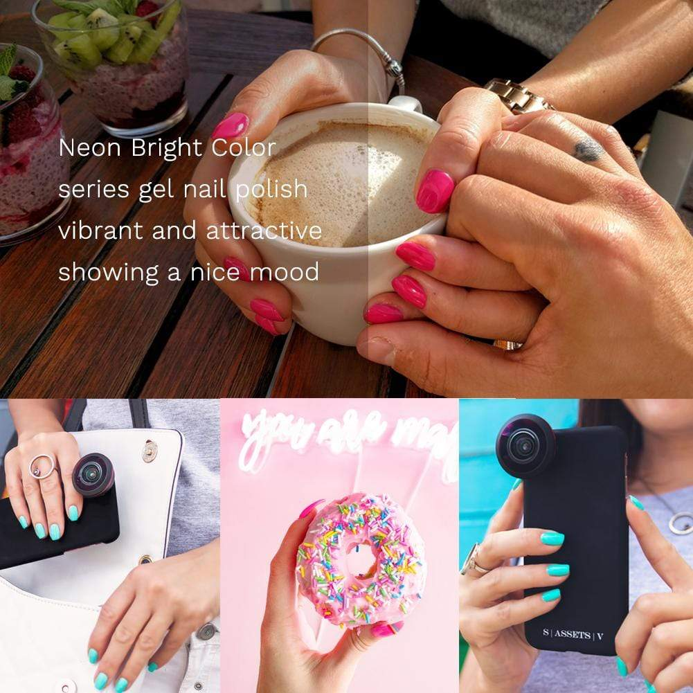 Vivacious Bright Neon Nail Gel Polish Set - Makartt