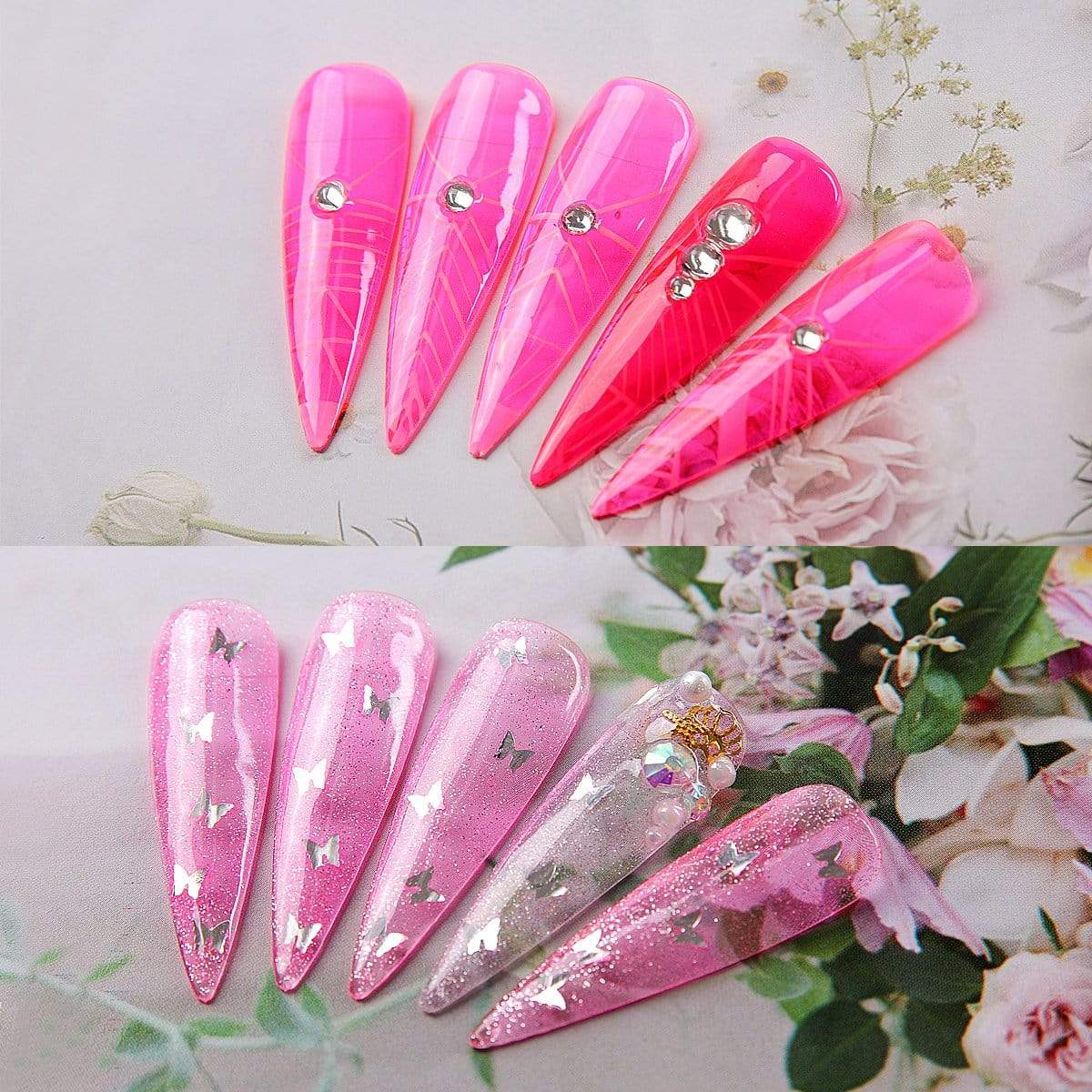 6 Color Pink Jelly Gel Polish Set 8ML P-101 - Makartt