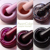 Pink Purple Gel Polish Set - Makartt
