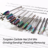 Tungsten Carbide Nail Drill Bits Set 10Pcs - Makartt