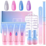Jelly Glitter Poly Nail Gel Extension Kit