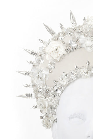Silver Spike Flower Crown