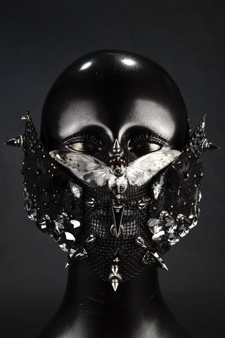 Black & Silver Cicada Mask 'Defense'