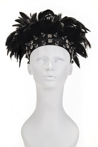 Black Feather Headpiece