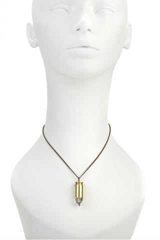 Brass Bullet Necklace