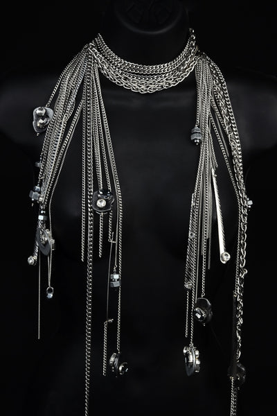 Chain, Washer & Bolt Neckpiece