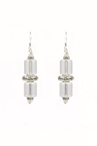 Crystal Tube Earrings