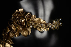 Gold Flowing Flower Belt