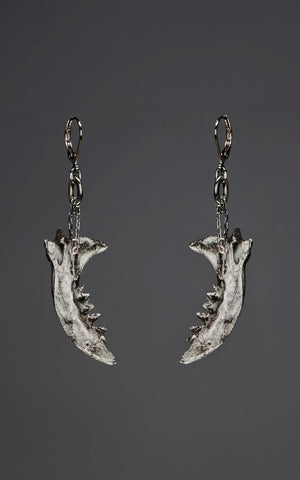 'Chomp' - large mink jaw earrings