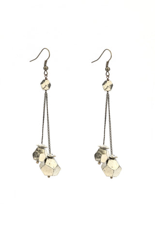 Pyrite & Swarovski Earrings