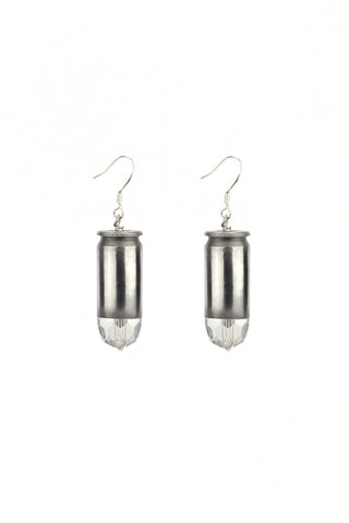 Bullet Earrings in Silver