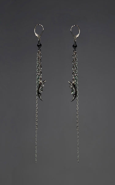 'Nibble' - tiny jaw bone earrings
