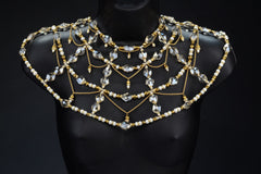 Gold Crystal and Pearl Chestplate