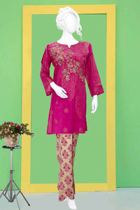 Embroidered Jacquard Shirt with Embellishment 2320