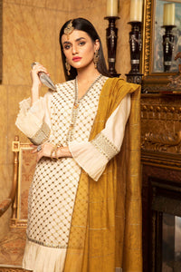 Skin Embroidered Suit with embellishment 2488 (3-piece)