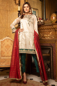 Jacquard Embroidered with Hand Embellishment Suit 2425 (3-piece)