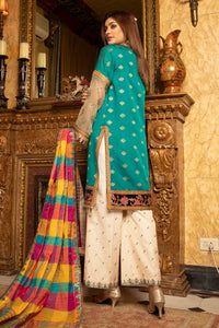 Jacquard Organza Embroidered Suit 2544 (3-piece)