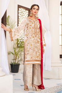 Gold Dust Rose Embroidered Suit 2561 (3-piece)