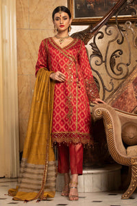 Ruby Angrakha Embroidered Suit 2552 (3-piece)