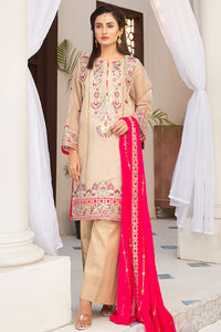 Shocking Pink Embroidered Suit 2577 (3-piece)