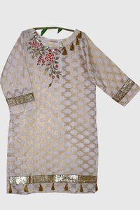 Embroidered Jacquard Shirt with Embellishment 1652