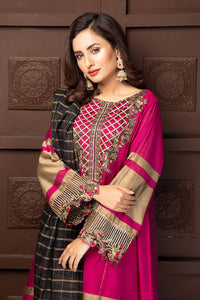 Shocking Pink Embroidered Suit 2549 (3-piece)