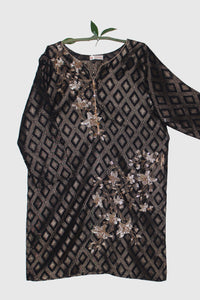 Embroidered Jacquard Shirt with Embellishment 2423