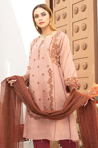 Pink and Maroon Embroidered Suit 2528 (3-piece)
