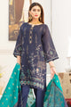 Navy Blue Jacquard Embroidered Suit 2533 (3-piece)