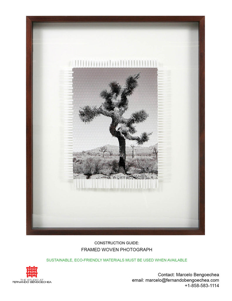 how to frame a woven photograph by fernando bengoechea