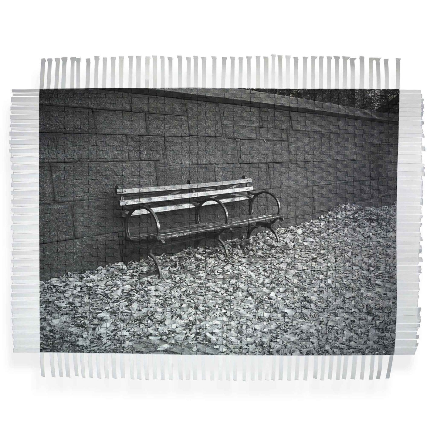 FRENCH BENCH - WOVEN PHOTOGRAPH
