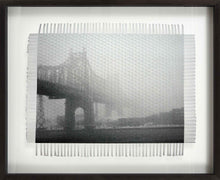Load image into Gallery viewer, NEW YORK FOGGY BRIDGE - WOVEN PHOTOGRAPH