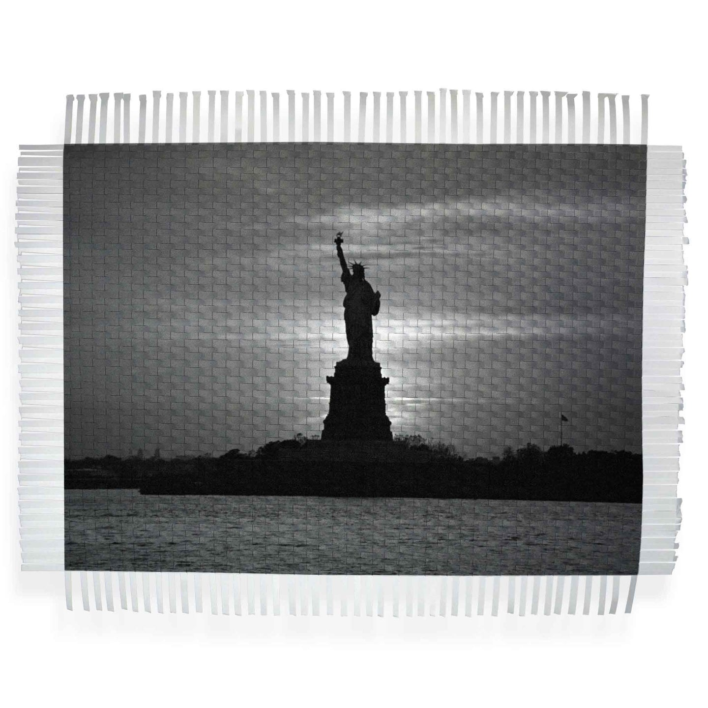 WELCOME TO AMERICA - WOVEN PHOTOGRAPH