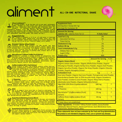 Aliment™ Complete Meal Replacement Ingredients