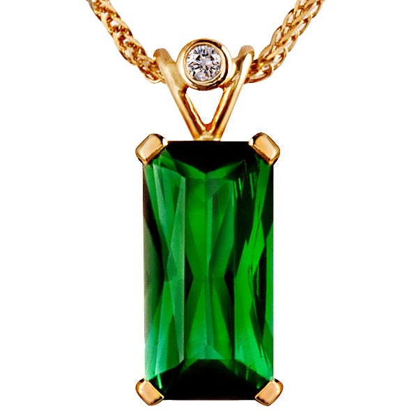 Tourmaline & Diamond Pendant