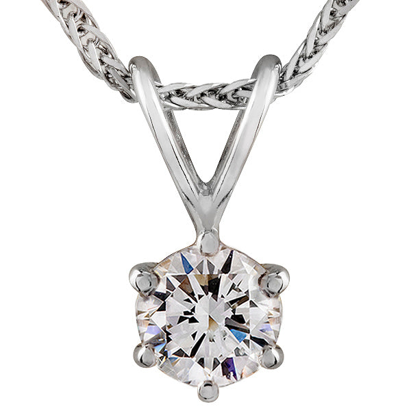 Radiance Solitaire Diamond Pendant
