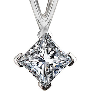 Luster Princess Cut Diamond Pendant