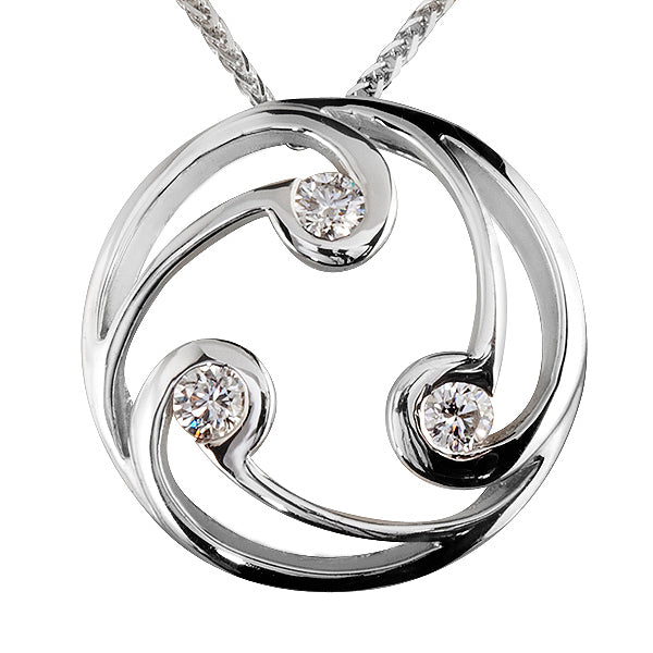 Katherine Celtic Diamond pendant