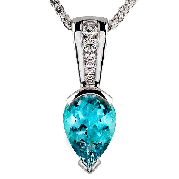 Aquamarine & Diamond Pendant
