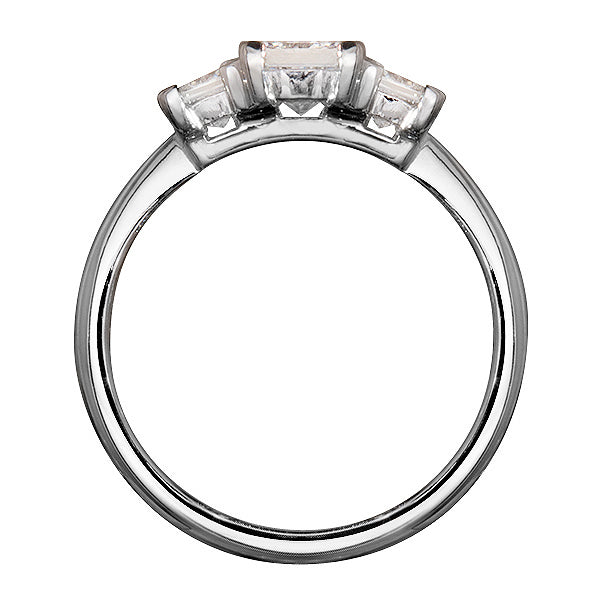 Classic Princess Cut Trilogy Diamond Ring