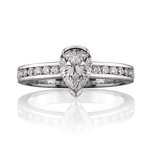 Cavendish Pear Shaped Diamond Ring